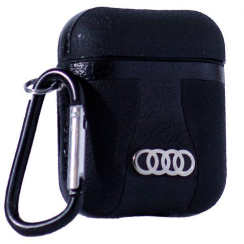 Кожаный чехол для AirPods Car Logo Audi