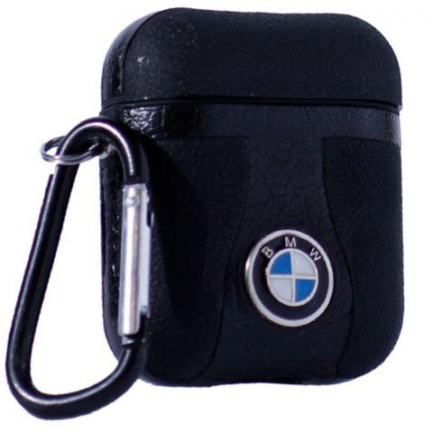 Кожаный чехол для AirPods Car Logo BMW