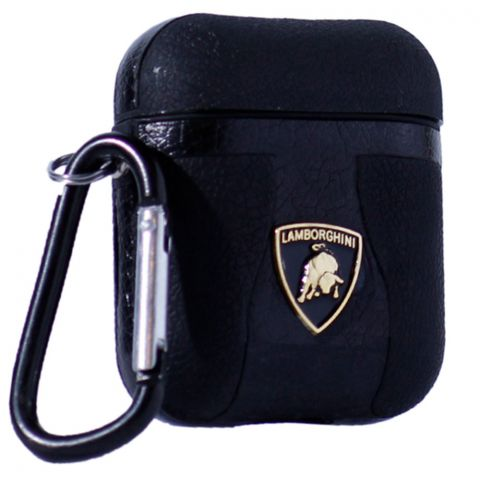 Кожаный чехол для AirPods Car Logo Lamborghini
