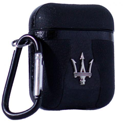 Кожаный чехол для AirPods Car Logo Maserati