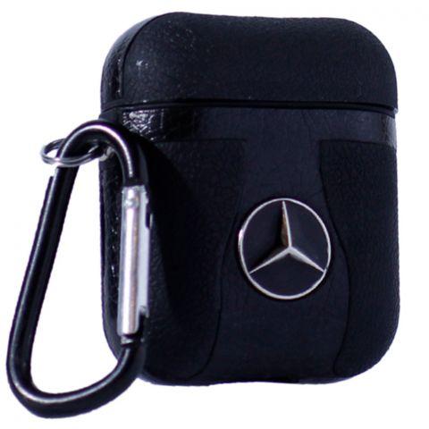 Кожаный чехол для AirPods Car Logo Mercedes