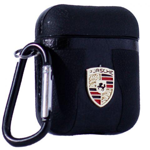 Кожаный чехол для AirPods Car Logo Porsche