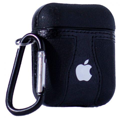 Кожаный чехол для AirPods Logo Apple
