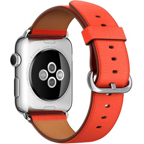 Ремешок для Apple Watch 42mm/44mm Classic Buckle-Red