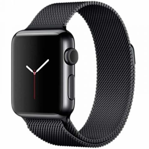 Ремешок для Apple Watch 42mm/44mm Milanese Loop Metal-Black