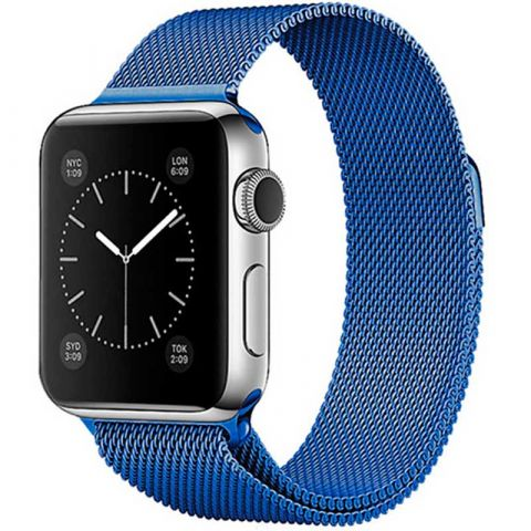 Ремешок для Apple Watch 42mm/44mm Milanese Loop Metal-Blue