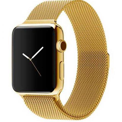 Ремешок для Apple Watch 38mm/40mm Milanese Loop Metal-Gold