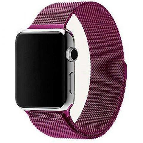 Ремешок для Apple Watch 42mm/44mm Milanese Loop Metal-Purple