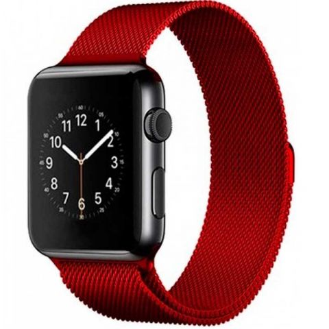 Ремешок для Apple Watch 42mm/44mm Milanese Loop Metal-Red