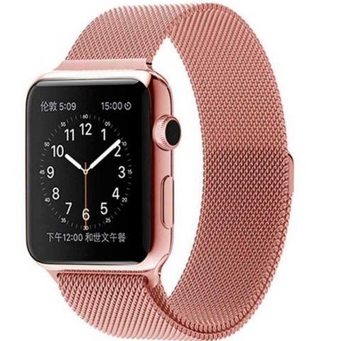 Ремешок для Apple Watch 38mm/40mm Milanese Loop Metal-Rose Gold