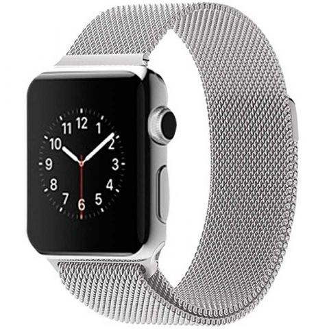 Ремешок для Apple Watch 38mm/40mm Milanese Loop Metal-Silver
