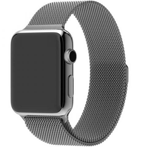 Ремешок для Apple Watch 42mm/44mm Milanese Loop Metal-Space Gray
