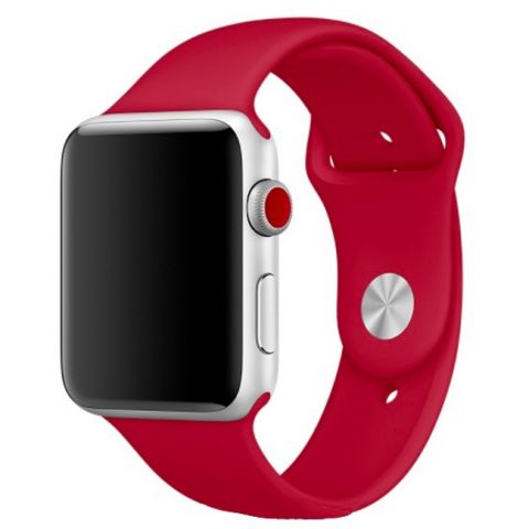 Ремешок для Apple Watch 42mm/44mm Sport Band-Wine Red