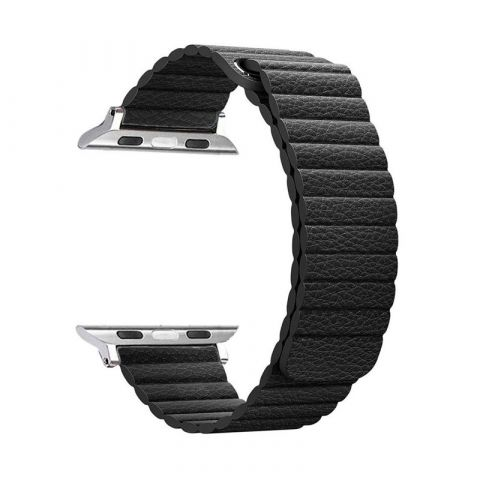 Ремешок для Apple Watch 42mm/44mm Magnetic Leather Loop-Black