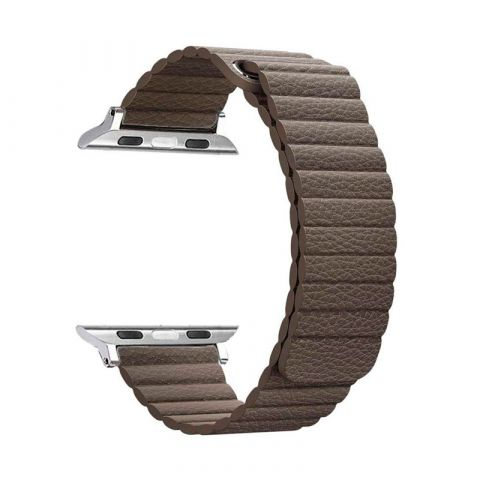 Ремешок для Apple Watch 38mm/40mm Magnetic Leather Loop-Brown