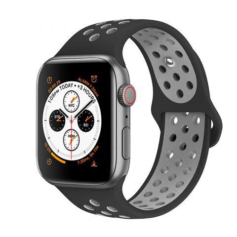 Ремешок для Apple Watch 38mm/40mm Nike Sport Band-Black/Cool Gray