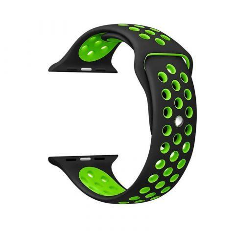 Ремешок для Apple Watch 42mm/44mm Nike Sport Band-Black/Green