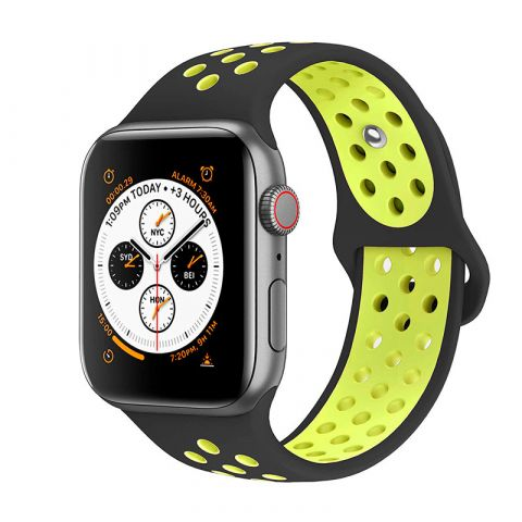 Ремешок для Apple Watch 42mm/44mm Nike Sport Band-Black/Volt