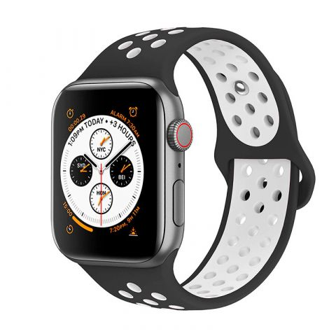 Ремешок для Apple Watch 38mm/40mm Nike Sport Band-Black/White