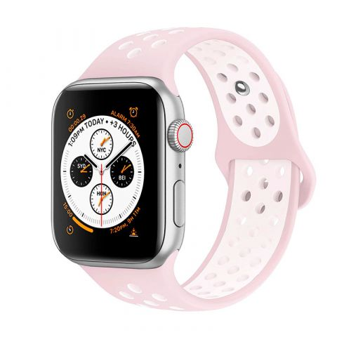 Ремешок для Apple Watch 42mm/44mm Nike Sport Band-Light Pink/White