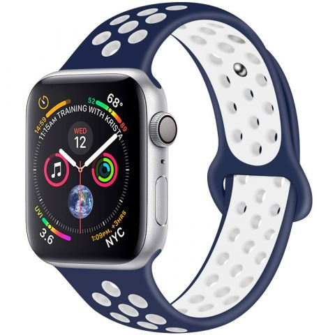 Ремешок для Apple Watch 38mm/40mm Nike Sport Band-Midnight Blue/White
