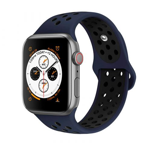 Ремешок для Apple Watch 38mm/40mm Nike Sport Band-Obsidian/Black