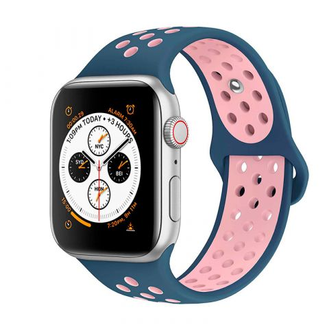 Ремешок для Apple Watch 38mm/40mm Nike Sport Band-Ocean Blue/Light Pink