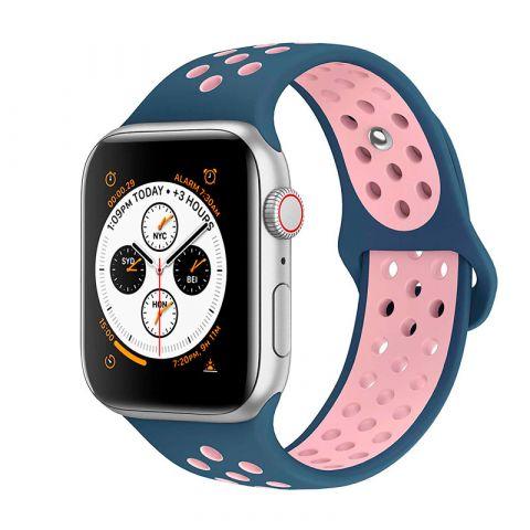 Ремешок для Apple Watch 42mm/44mm Nike Sport Band-Ocean Blue/Light Pink