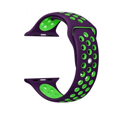 Ремешок для Apple Watch 42mm/44mm Nike Sport Band-Purple/Green
