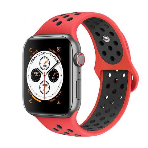 Ремешок для Apple Watch 42mm/44mm Nike Sport Band-Red/Black