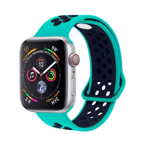 Ремешок для Apple Watch 38mm/40mm Nike Sport Band-Turquoise/Midnight Blue