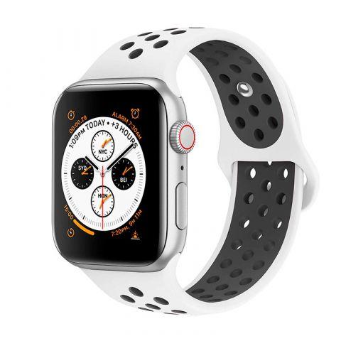 Ремешок для Apple Watch 42mm/44mm Nike Sport Band-White/Black