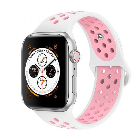 Ремешок для Apple Watch 38mm/40mm Nike Sport Band-White/Light Pink