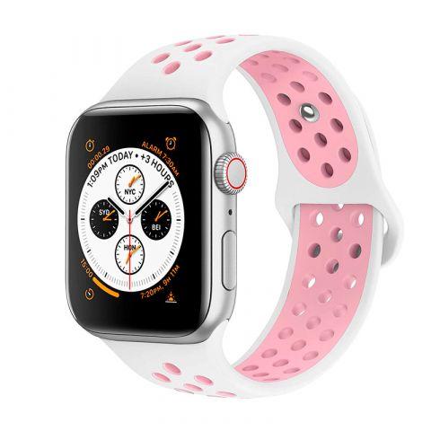 Ремешок для Apple Watch 42mm/44mm Nike Sport Band-White/Light Pink
