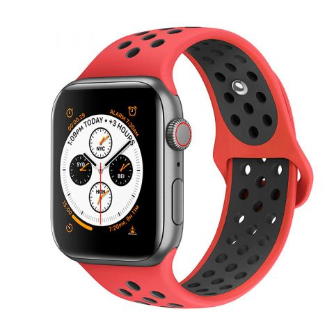 Ремешок для Apple Watch 38mm/40mm Nike Sport Band-Red/Black