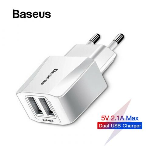Сетевое зарядное устройство Baseus Mini Dual U Charger 2.1A 2USB