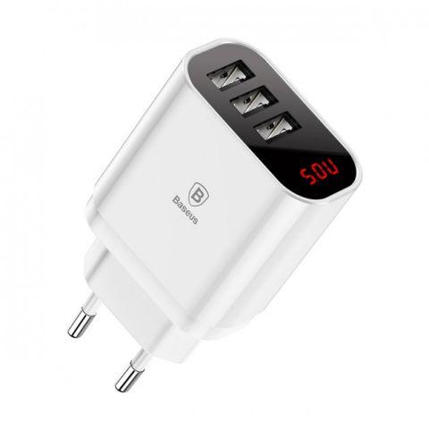 Сетевое зарядное устройство Baseus Mirror Lake Intelligent, 3 порта USB, 3.4A