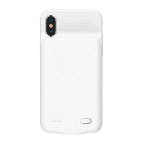 Чехол-аккумулятор для iPhone X/XS Baseus Plaid Backpack Power Bank Case 3500mAh White