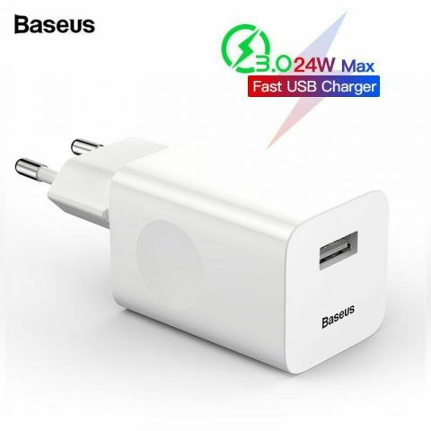 Зарядное устройство Baseus Quick Charge QC 3.0 24W White