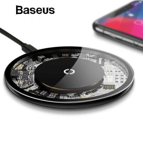 Беспроводная зарядка Baseus Simple Transparent Wireless Charger 10W Black