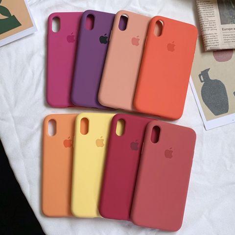 Силиконовый чехол для iPhone X/XS Silicone Case Full (с закрытой нижней частью)