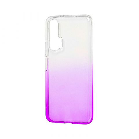 Силиконовый чехол на Huawei Honor 20 Pro Gradient Design-White/Violet