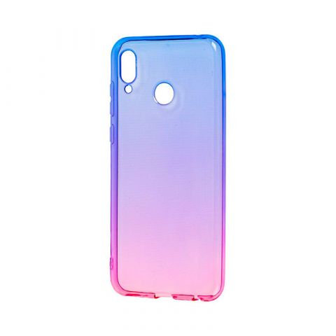 Силиконовый чехол на Huawei Honor Play Gradient Design-Pink/Blue
