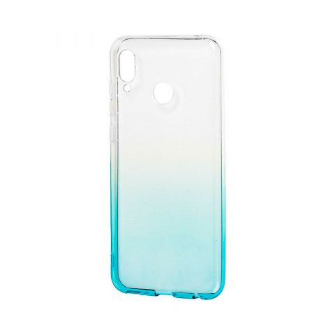 Силиконовый чехол на Huawei Honor Play Gradient Design-White/Turquoise