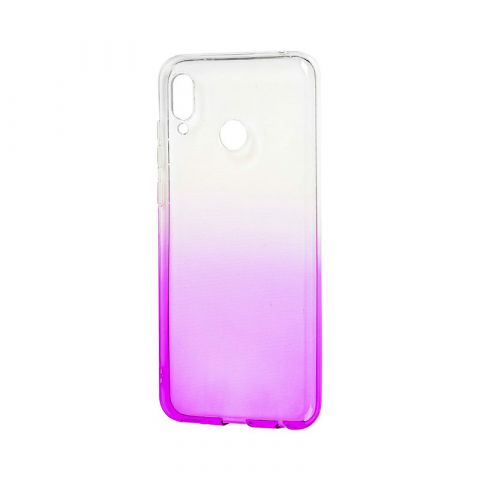Силиконовый чехол на Huawei Honor Play Gradient Design-White/Violet