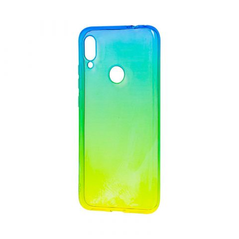 Силиконовый чехол на Huawei Honor Play Gradient Design-Yellow/Green