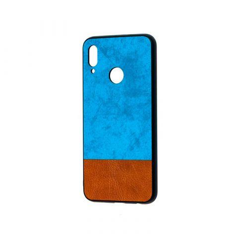Чехол на Huawei P Smart 2019 New Textile-Blue/Brown