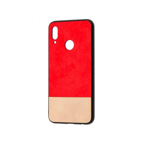 Чехол на Huawei P Smart 2019 New Textile-Red/White
