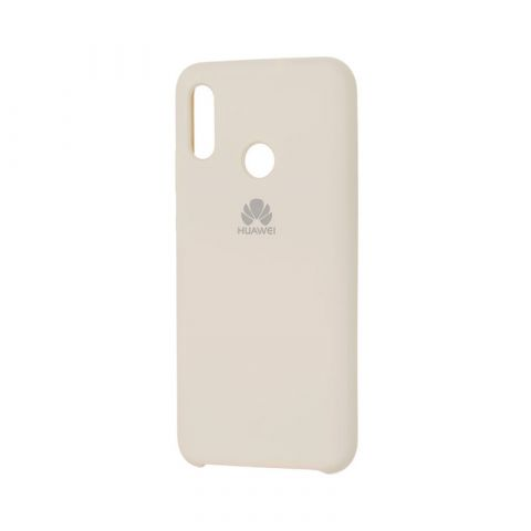 Чехол на Huawei P Smart 2019 Soft Touch Silicone Cover-Antique White