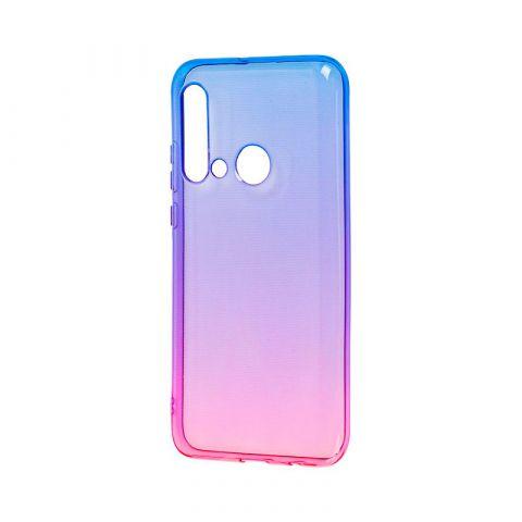 Силиконовый чехол для Huawei P20 Lite 2019 Gradient Design-Pink/Blue